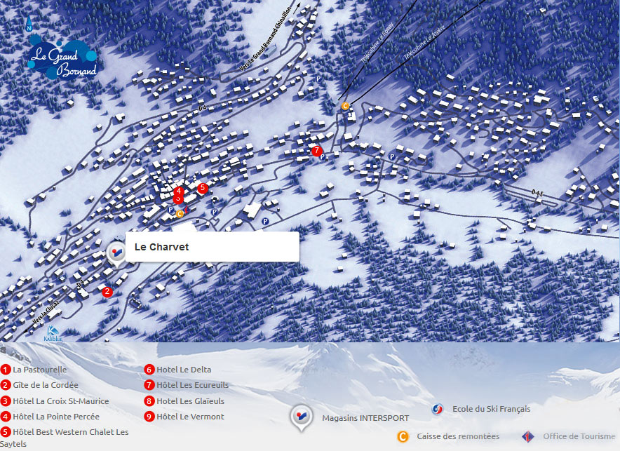 Access map Intersport Le Grand Bornand